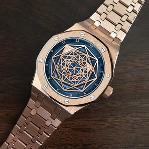 Image 3 - Reloj DIDUN mecánico automático para hombre, cronógrafo deportivo de negocios, luminoso, resistente al agua hasta 30m