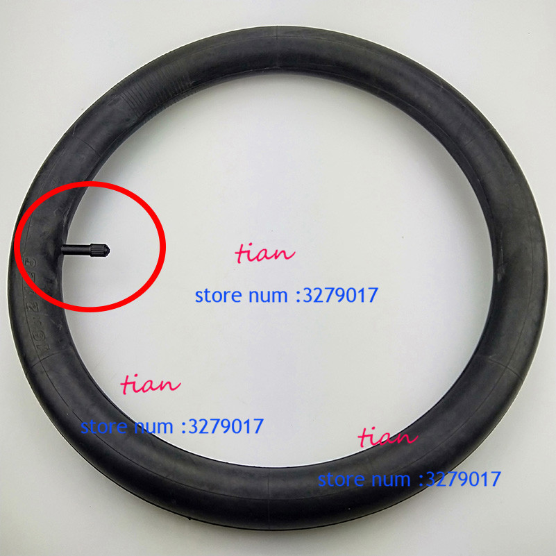 Inner Tube with Angled Valve for Electric Bike  butyl rubber 14 x 2.125
