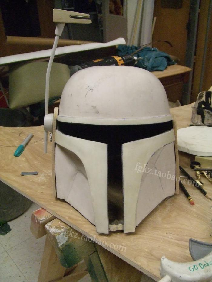 Paper Model Star Boba Helmet 1: 1 Scale Can Wearable Cosplay Props DIY Casual Handmade Toy Puzzle Decoration