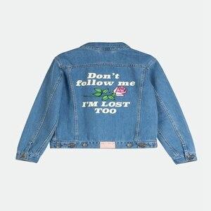 Image 5 - נשים בסיסי מעילי סתיו ג ינס מעיל בציר רקמה ארוך שרוול רופף בתוספת גודל 5XL ג ינס מעיל החורף מקרית בנות להאריך ימים יותר