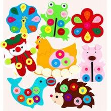 Тканевый материал Сделай Сам посылка 1 набор Детская игрушка Лес Животные тема ручной работы Войлок режущий нетканый материал ткань ручной работы