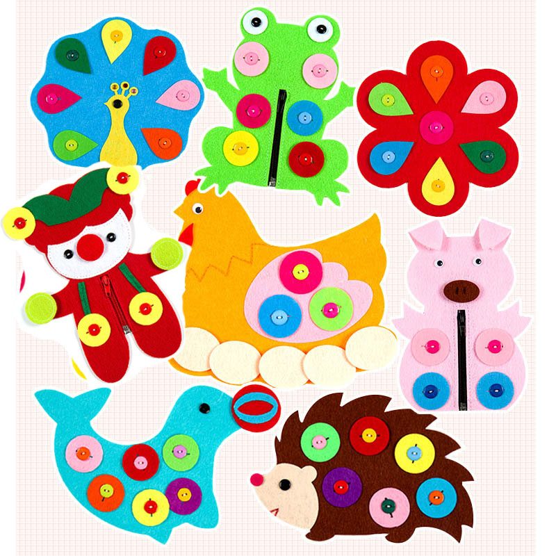 DIY Fabric Material Package 1 Set Kid Toy Forest Animal Theme Handmade Felt Cutting Felt Nonwoven Material Handmade Cloth