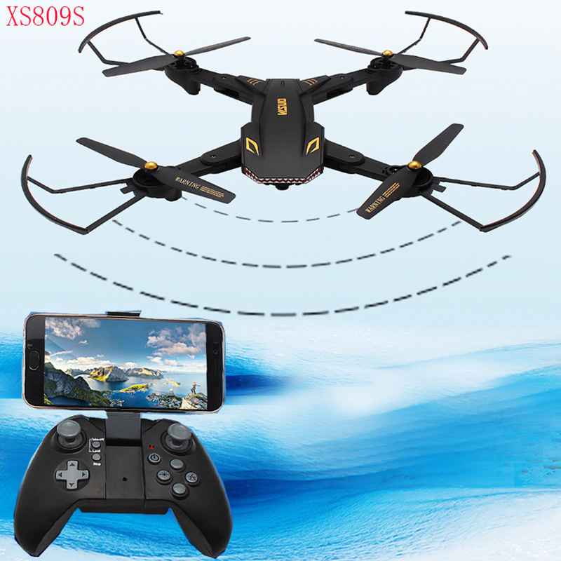 цена Long-endurance XS809S drone WIFI FPV With HD Camera Altitude Hold Mode Helicopter Foldable Arm RC Quadcopter RTF Drone