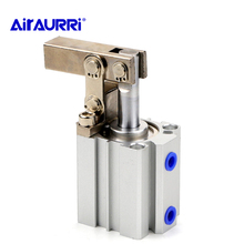 ALC/JGL 25 32 40 50 63 Double Action Clamping Cylinder Air Compressor Cylinder Pneumatic components Lever downward cylinder fcd 63 78 p new japan fujikura bf cylinder low friction cylinder double action with a single earring
