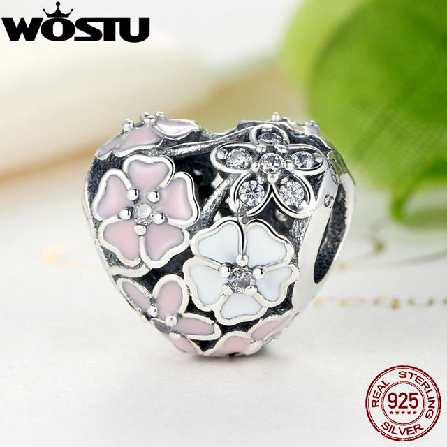 Pandora Style Spring Flower Charms