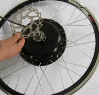 """Promotion!!!48v 1000w electric bike conversion kits with 26"""" front wheel+disc brake"""