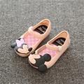 Mini SED Sapatos 2017 Sandálias meninas de Verão Bonito sapatos Meninas Crianças sapatos de Bebê Sapatos Para Menina tamanho EUR24-29 mini SED