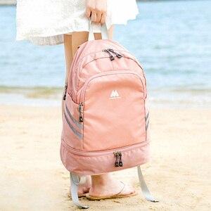 Image 5 - Independente sapatos mochila roupas cubos de embalagem saco organizador viagem à prova dlarge água grande capacidade estudante escola bolsa acessórios