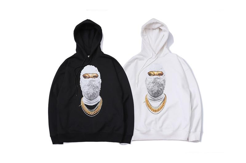 2018 meilleure qualité choses étranges perle masque imprimé femmes hommes Hoodies Sweatshirts Hiphop Streetwear hommes pull à capuche