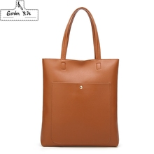 Купить с кэшбэком Fashion Women Handbag PU Oil Wax Leather Women Bag Large Capacity Tote Bag Big Ladies Shoulder Bags Famous Brand Bolsas Feminina