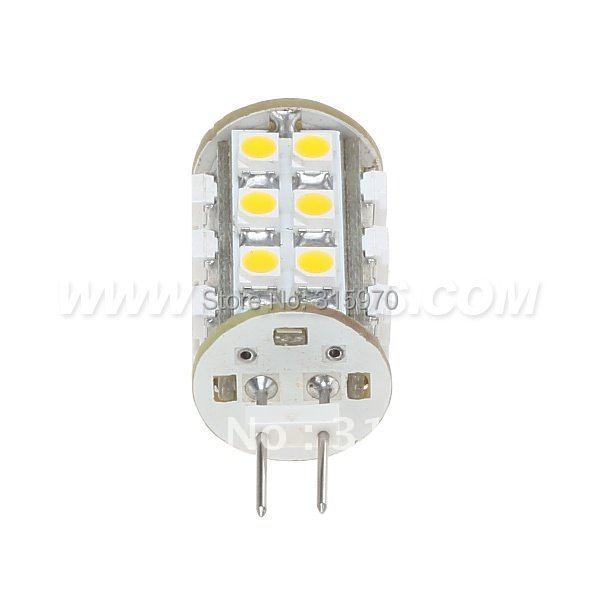 Купить с кэшбэком Led G6.35 Bulb Lighting 25LED 3528SMD Lamp Wide voltage DC10-30V/AC8-20V1.4W White Warm White 20pcs/lot