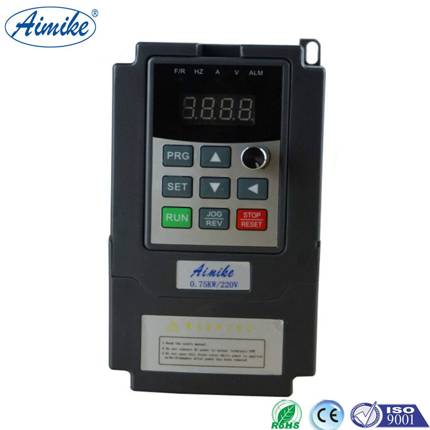 AIMIKE AMK3500 Series Single Phase VFD Drive VFD Inverter Professional Variable Frequency Drive 0.75KW 220V delta ac motor drive inverter vfd007c43a vfd c2000 series 1hp 3 phase 380v 750w new