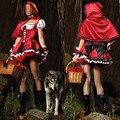 Женская Королева костюмы Игра Одежда Красная Шапочка Хэллоуин косплей Рождество Пром Показать Замок Принцессы игра одежда