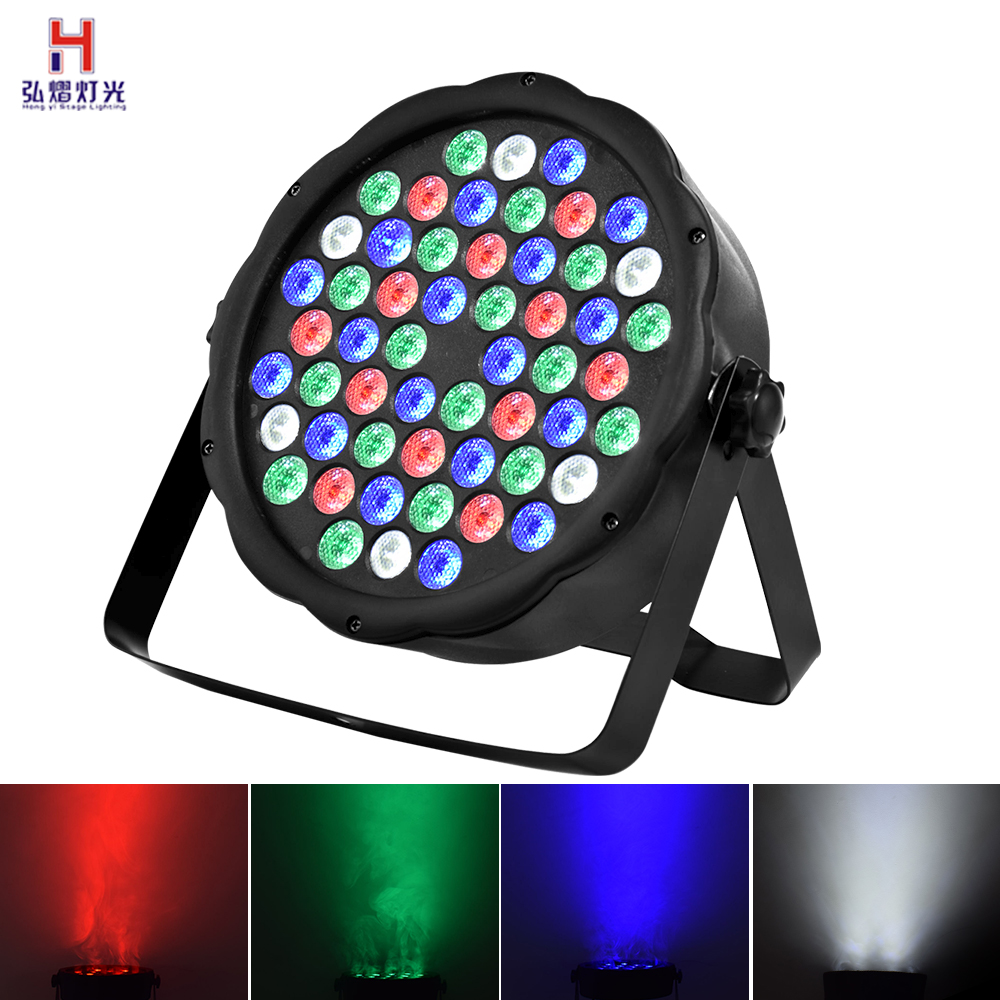 Par Led Wash 54x3W Flat Led Par High Power RGBW Stage Lights With DMX512 Master Slave DJ Disco