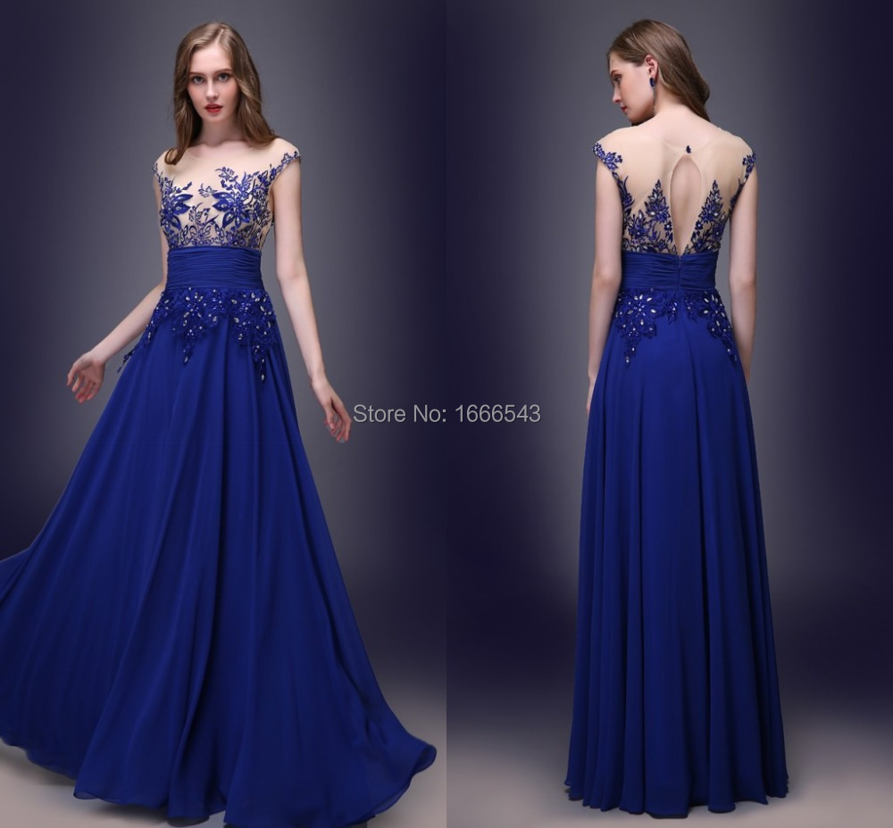 Stunning Charming Royal Blue Evening Dress 2015 In Stocks Long ...