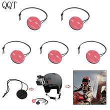 QQT 5 pcs / lot Security Security Tether Belts With Sticker Mounting Kit For GoPro hero 7 6 5 4 3 + 3 2 sj4000 xiaomi yi camera