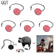 Qqt 5 pçs/set para gopro hero 9 8 7 6 5 4 3 + 3 2 corda de segurança com 3m adesivo kit instalação para sj4000 xiaomi yi câmera