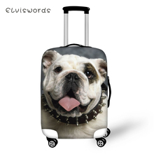 ELVISWORDS Protective Suitcase Cover Kawaii Bulldogs Elastic Dust-proof Luggage Cute Animal Waterproof Accessorie