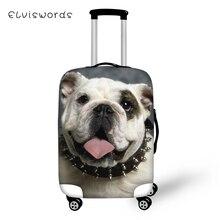 ELVISWORDS Protective Suitcase Cover Kawaii Bulldogs Elastic Dust-proof Luggage Cute Animal Waterproof Accessorie