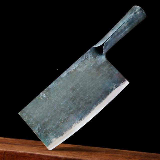 1 szt. Czyste ręcznie robione integralnie uformowane ze stali manganowej nóż kuchenny nóż do krojenia uchwyt nóż do kości