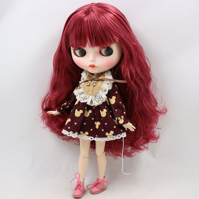 ICY Neo Blythe Doll Amaranth Hair Jointed Body 30cm