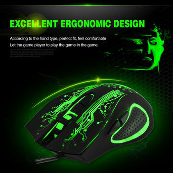 Wired USB Silent Gaming Mouse 5000 DPI 6 Button Ergonomic Magic Video Gamer Mice for Laptop - X9 2