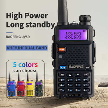 BaoFeng UV-5R Walkie Talkie Professional CB Radio Baofeng UV5R Transceiver 128CH 5W VHF&UHF Handheld UV 5R For Hunting Radio - DISCOUNT ITEM  42% OFF All Category