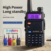 BaoFeng UV-5R Walkie Talkie Professionale CB Radio Baofeng UV5R Ricetrasmettitore 128CH 5 W VHF e UHF Handheld UV 5R Per caccia Radio