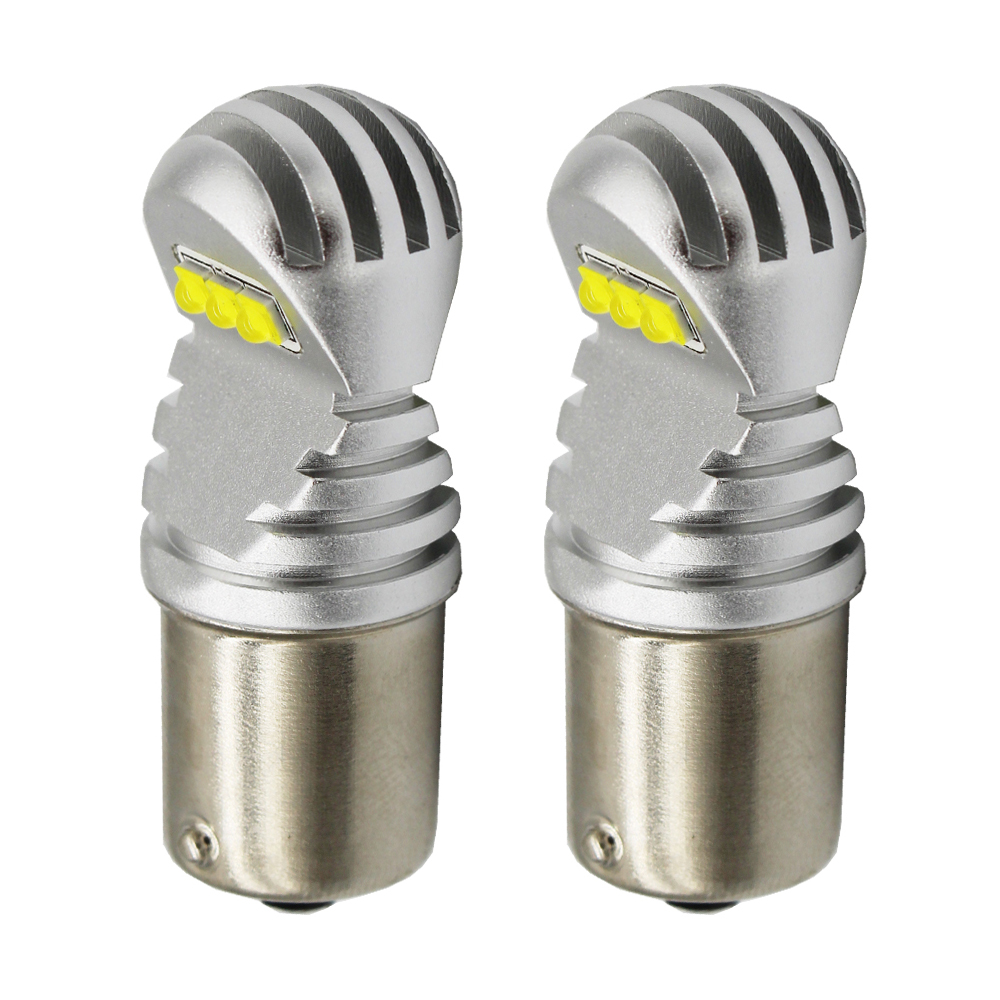 2pcs P21W <font><b>LED</b></font> Bulbs 1156 BA15S 1157 BAY15D T20 7440 7443 <font><b>T25</b></font> White Yellow 1600Lm Turn Signal Reverse Brake car Light 60W 12V 24V image