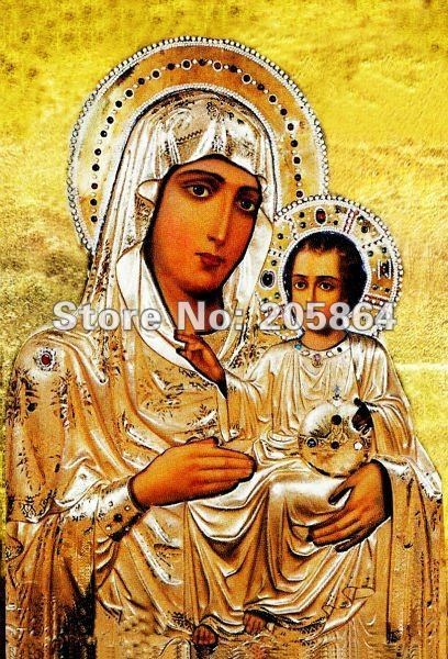 Free shipping small size craft tapestry,religion style fabric decor picture,wall hinging,Virgin Mary with the Son