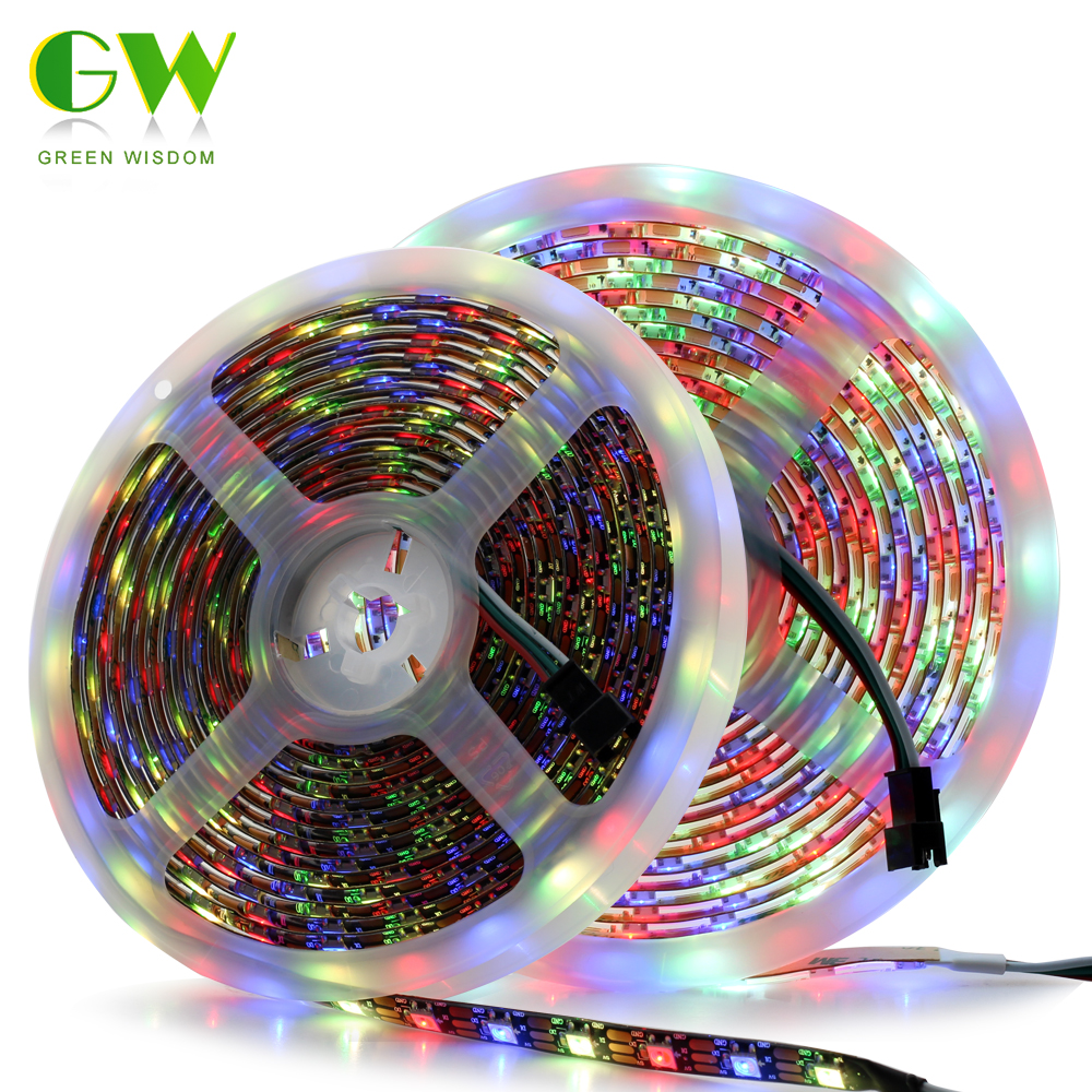 SK6812 RGBW RGBWW Dream Color LED Pixel Strip Light 4 In 1 1M/5M 30/60/144 LEDs/Pixels/M Addressable Strip IP30/IP65/IP67 DC5V