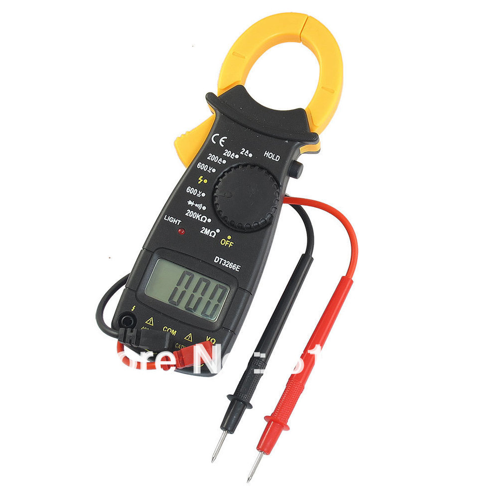 Ammeter DC/AC Voltmeter Ohmeter Diode Digital Clamp Meter DT3266E + Dual Leads Multimeter Tester Portable for Home Hobby Factory digital voltmeter ammeter ohmmeter multimeter volt ac dc tester clamp meter y103