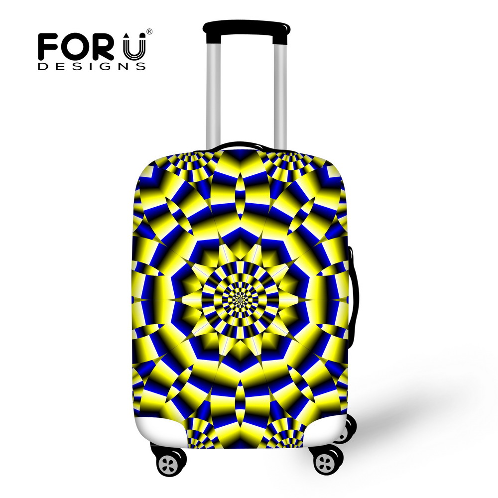 FORUDESIGNS 3D Paisley Floral Printing Luggage Case Cover Protective Cover for 18-30 inch Trolley Case Cover Elastic Dustproof