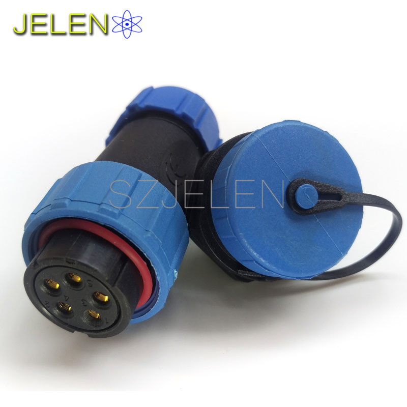 SP2110, étanche et forte, câble d'alimentation fil connecteur d'alimentation 5 broches plug socket, dispositif connecteur d'alimentation, LED connecteurs 5pin
