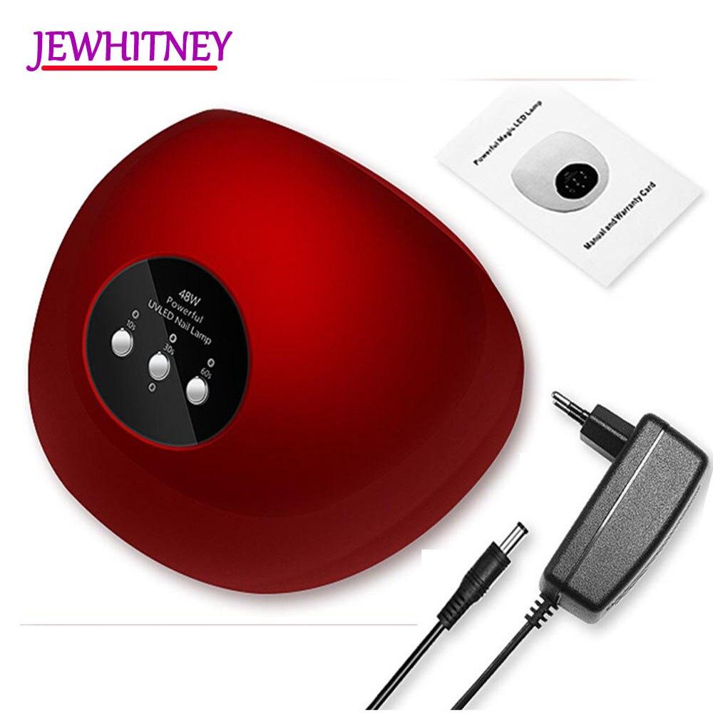 JEWHITENY 48W UV Lamp Nail Dryer For All Gels Nail Polish Machine Curing Nail Art Tool UV LED Lamp 24 LED Nail Lamp for Manicure