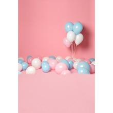 Laeacco Photography Backdrops Pink Baby Birthday Balloons Family Party Child Portrait Photographic Backgrounds For Photo Studio недорого