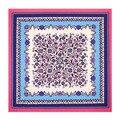 100*100cm 2016 women silk scarf  woman large square flower100% silk twill scarf  pink silk shawls wraps scarves hijabs