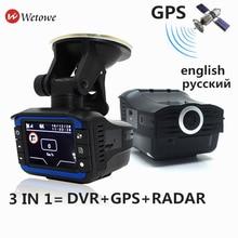 I6 3 в 1 Русский gps Радар детекторы Анти радар Автомобильный видеорегистратор Dash Cam gps трекер вождение для России Лазерная скорость обман
