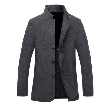 Winter Men's Casual Wool Blends Coat Fashion Business Long Thicken Slim Overcoat Trench Jacket Male cashmere coat Clothes