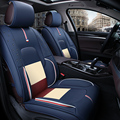 3D Cubierta de Asiento de Coche Cojín de Cuero de Alta Fibra Coche Cubiertas, Car Styling Para Audi A1 A3 A4 B8 B7 B6 B5 A6 C6 C7 A8 A8L Q5 Q7 Q3