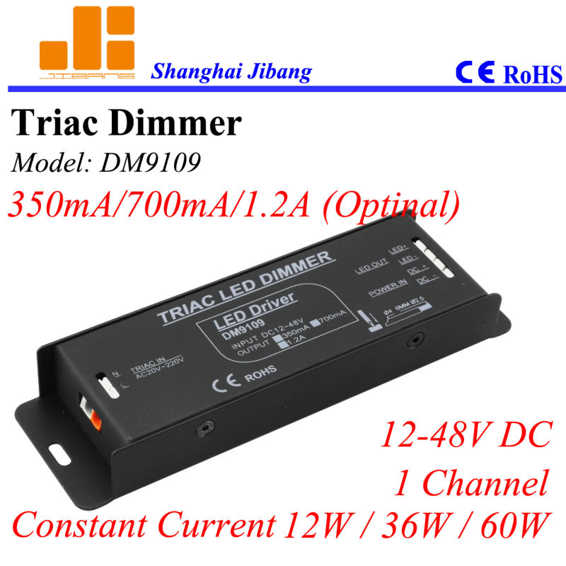 Free Shipping Triac dimming driver, Triac pwm LED driver, constant current 350ma/700ma/1.2A (Optl.), 1channel/12v-48v pn:DM9109 free shipping triac 220v dimmable driver triac dimming led controller 1 channel 75w dm9123h t series