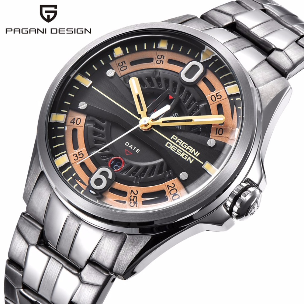PAGANI DESIGN Fashion Quartz Watches Men Luxury Brand Waterproof Sport Steel Strap Wrist Watch Male Clock relogio masculino weide popular brand new fashion digital led watch men waterproof sport watches man white dial stainless steel relogio masculino