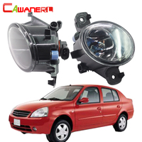Cawanerl 2 Pieces 100W H11 Car Styling Halogen Lamp Fog Light DRL Daytime Running Lamp 12V For Nissan Platina 2002 2010