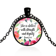 Christian Jewelry  She is clothed with Strength and Dignity Necklace Proverbs 31:25