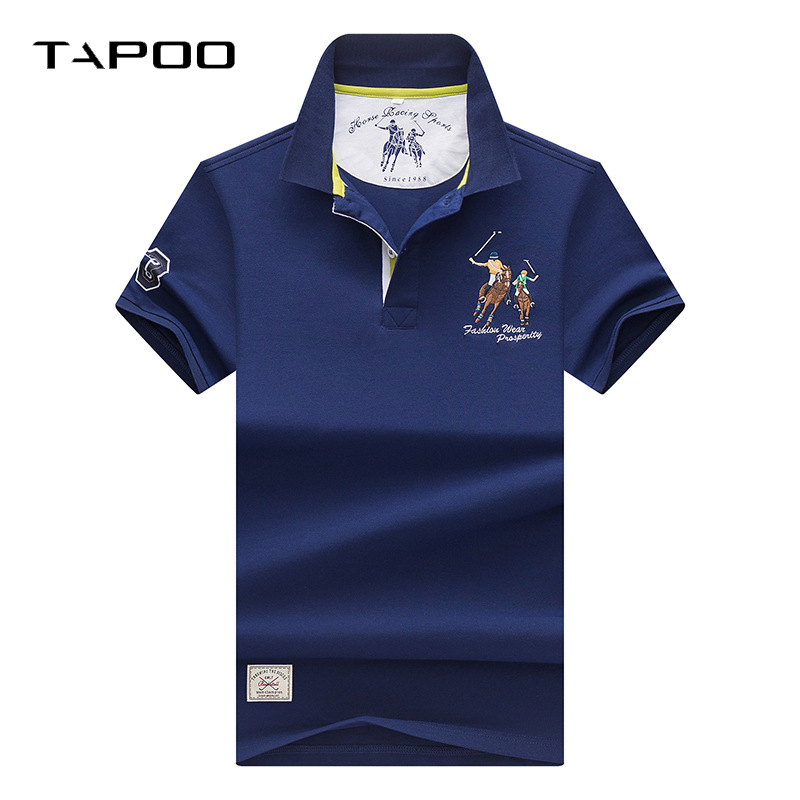 2018 Men Business & Casual Stripe embroidery Male   Polo   Shirt Short Sleeve Breathable   Polo   Shirt Brand Clothing   polo