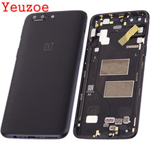 Yeuzoe Battery Back Cover For Oneplus 5 A5000 Housing Case +Power Volume Buttons for one plus 5 battery cover Replacement(China)