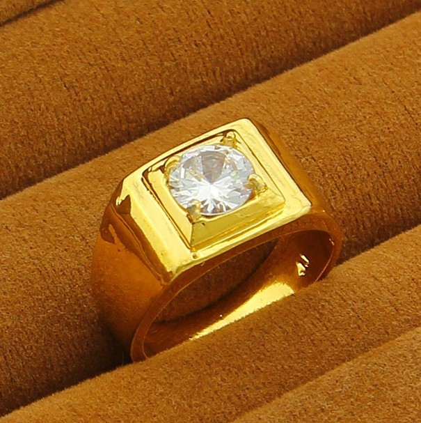 classical hot sale men wedding rings yellow gold 24 k vacuum plated top quality luxury rings noble crystal jewelry jjp022 in rings from jewelry - Gold Wedding Rings For Men