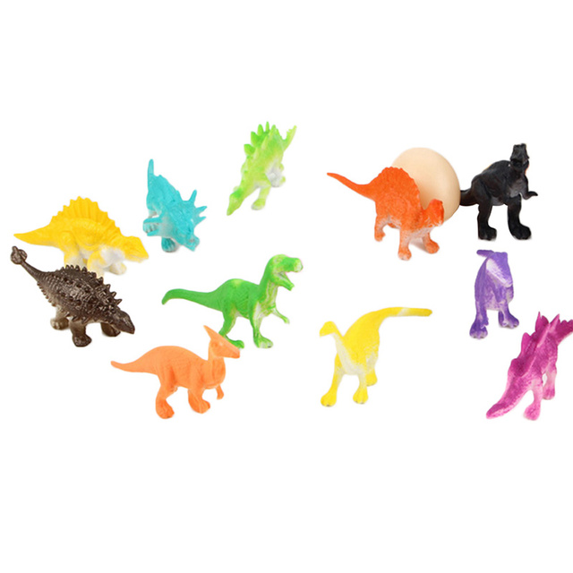 12 Pcsbox Mini Mainan Dinosaurus Childrens Hadiah Plastik Saku Lucu