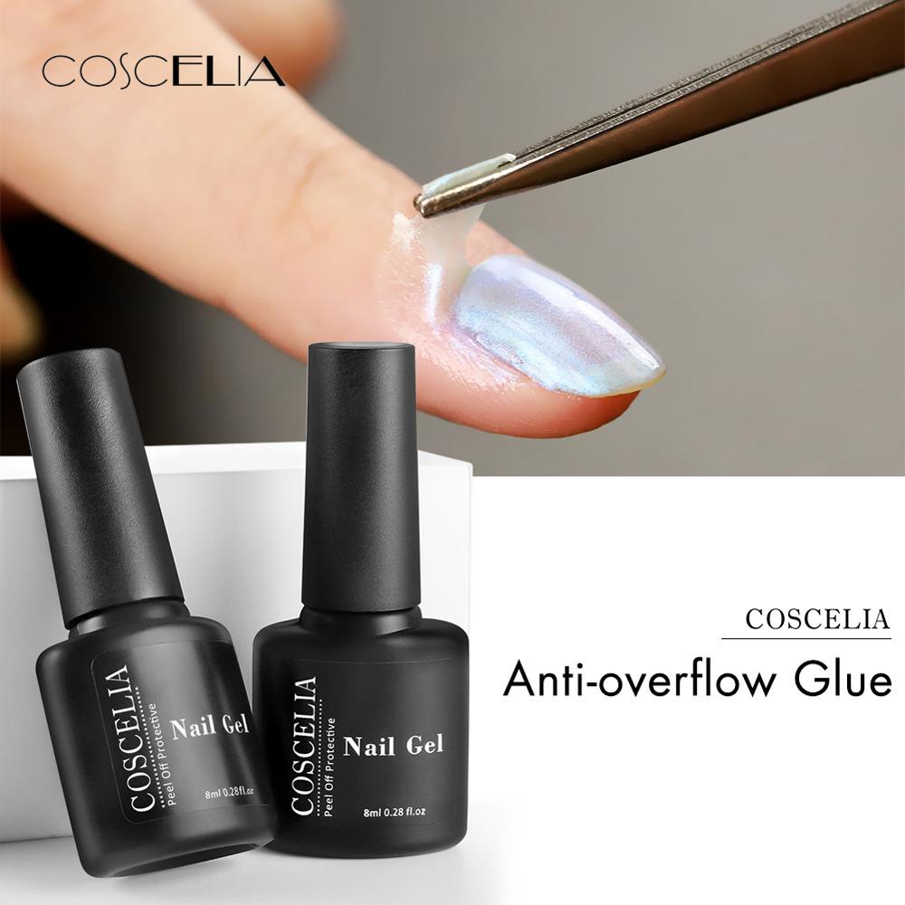 COSCELIA Peel Off Tape Base Coat For Nail Polish Protection Finger Skin Defender Nail Art Latex Adhesive Hybrid Varnishes