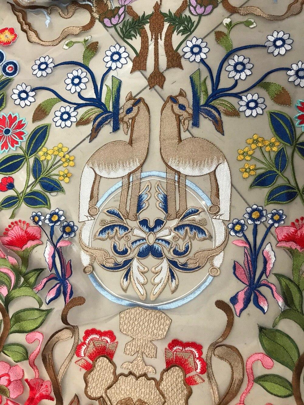 Embroidere 綿生地アフリカレース新フレンチレース生地高品質アフリカレースの生地ウェディングドレス 5y  グループ上の ホーム&ガーデン からの レース の中 1